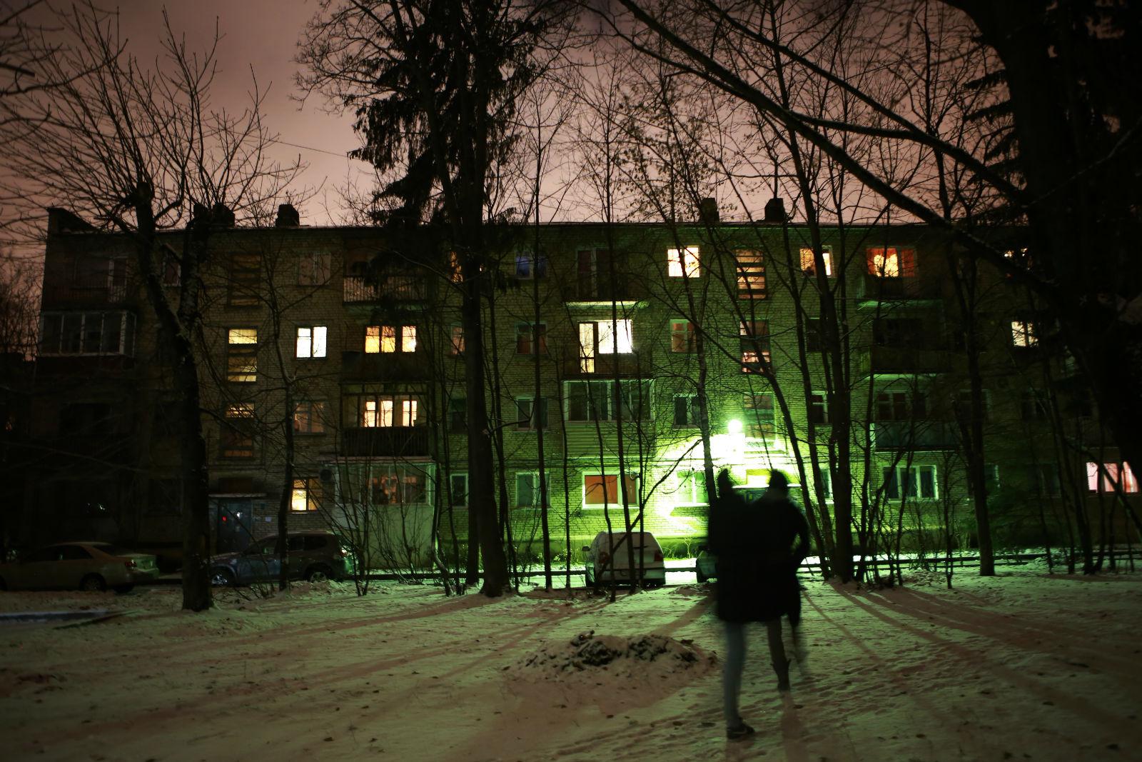 Alina dans son quartier à Minsk.