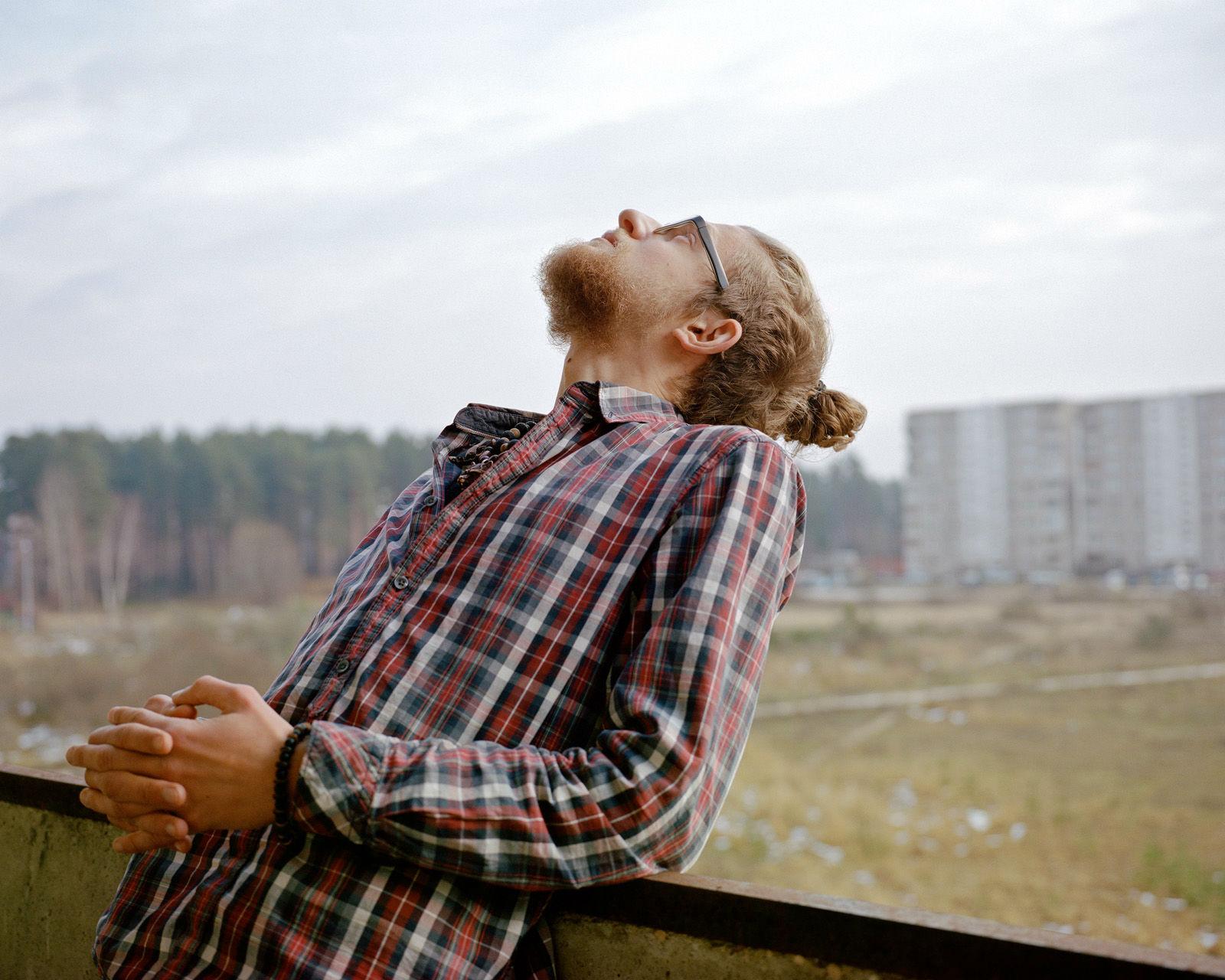 """Reinhard Wood tiene 26 años y ha sido voluntario en la residencia artística """"Tochka""""."""