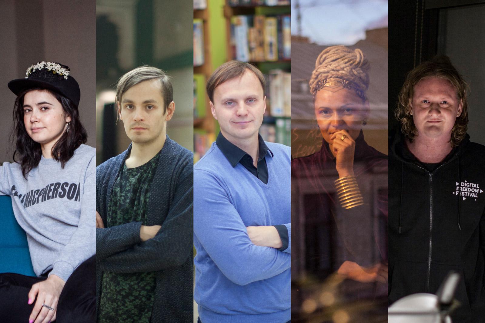 L-R: Agnese Kleina, Andrejs Strokins, Egils Grasmanis, Inin Nini, Uldis Leiterts