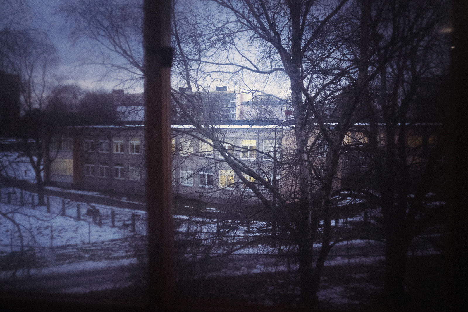 The view from Tiiu and Vadim's home in Tallinn