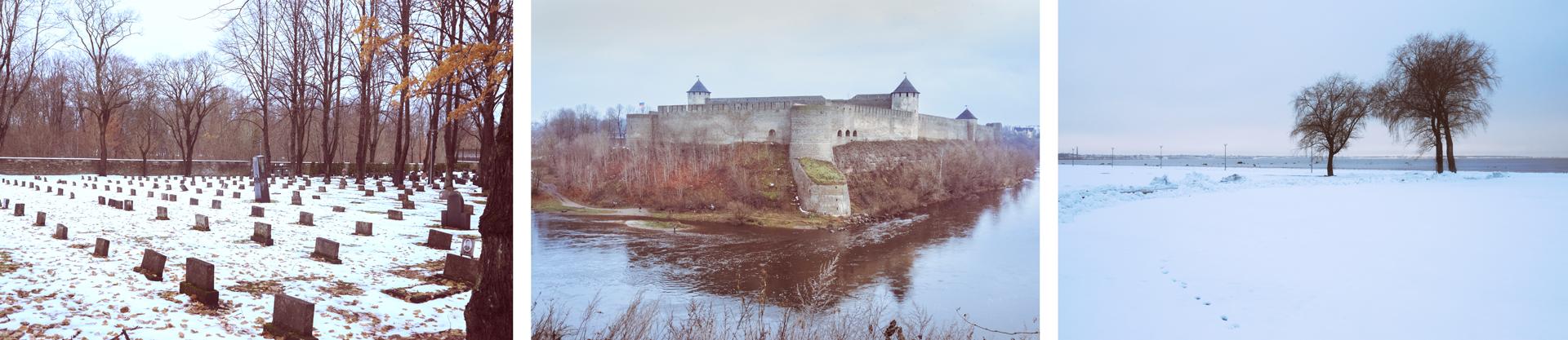 Soviet cemetery/Narva castle/Pirita tree.